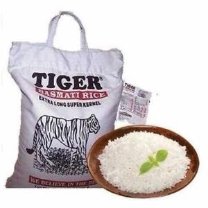 Rice Basmati  Super Kernal Tiger Brand  5 Kgs (Free Post in UK)