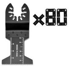 80pcs Oscillating Tool Saw Blades for Dremel DeWALT Porter-Cable Black+Decker