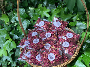 75 RED ROSE PETAL CONFETTI PACKETS NATURAL DRIED BIODEGRADABLE WEDDING CONFETTI