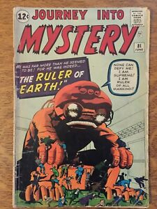 JOURNEY INTO MYSTERY 81 fair cond Ditko Kirby pre-hero Atlas TWO BEFORE THOR