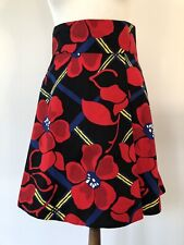 MARNI Red Floral Print A-Line Skirt. IT 42/UK 10. Marni 2012 Resort Collection