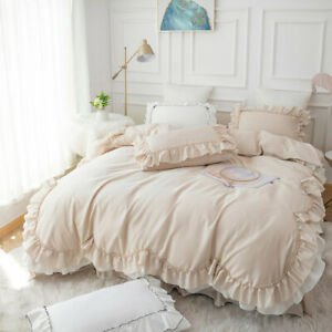 2020 Luxury Bedding Set King Size Quilt Bed Cover Pure Cotton Ruffle Home