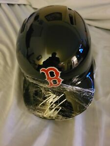 Michael Chavis Autographed MLB Batting Helmet JSA Certified