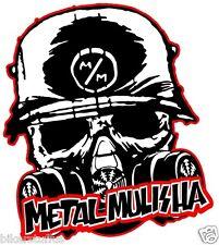 METAL MULISHA WITH MASK SKULL BUMPER STICKER TOOLBOX STICKER LAPTOP STICKER