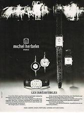 PUBLICITE  1974   MICHEL HERBELIN  montres