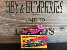matchbox superfast no.37B-6.Rare Pink Version mint D-3 Box excellent from 1971