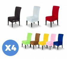 4701 Pack de 4 fundas elásticas para las sillas en varios colores a elegir