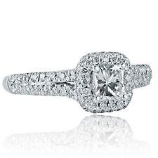 1 Quilate F-Vs2 Radiante Compromiso de Diamantes de Cortar Separado Pata