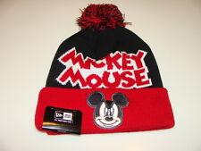 New Era Cap Hat Toque Beanie Disney Pom Knit Winter Fresh Mickey Mouse Cuffed