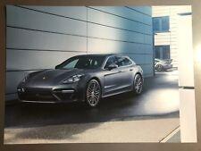 2018 Porsche Panamera Turbo S Sedan Showroom Advertising Sales Poster RARE!!