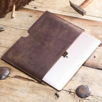 Genuine Leather iPad Sleeve Case Cover Handbag Pouch For iPad Mini Air Pro MAC