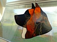 Stained Glass Dog - Akita - brindle