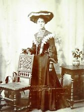 Large 1800s Victorian Cabinet Card Photograph of  Victorian Lady