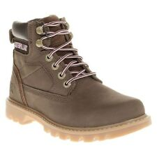 New Womens Caterpillar Brown Willow Nubuck Boots Ankle Lace Up