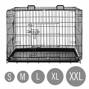 Hundekäfig Hundebox Transportbox faltbar Drahtkäfig S-XXL Hund Katze Welpe Auto