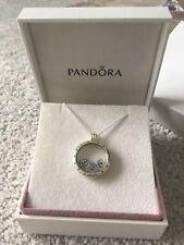 Genuine Pandora Floating Large Locket Necklace + Love & Family Petites New