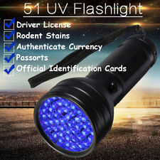 51 LED UV Lumière Ultraviolette Noire Lampe de Poche Torche Scorpion Détecteur
