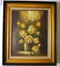 Original Oil on Canvas Painting  Still Life Signed Lower Left Bell