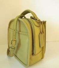 VINTAGE COACH LIME GREEN 9991 LEATHER LUNCH BOX CROSSBODY BAG
