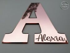 Personalised engraved monogram name plaque letter nursery kids room decor