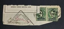 MOMEN: ST HELENA SG #36 PAIR OPENED UNDER MARTIAL LAW PIECE £ LOT #5164