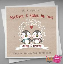 Personalised Christmas Card Special Couple Brother Sister in Law Both of You