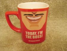 "Nescafe Red Cheeky Mug - ""Today, I'm The Boss"" -Brand New"