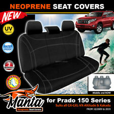 Manta Custom Black Neoprene Seat Covers for Toyota Prado 150 Middle ROW 2009-19