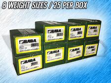 BADA MCFE MC COATED STEEL WHEEL WEIGHTS - .25 - 2.00 OZ. - 200 TOTAL WEIGHTS