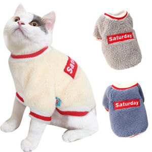 Soft Fleece Cats Jumpers Pet Puppy Dog Sweater Chihuahua Clothes Vest Pajamas