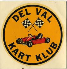 Vtg Water Decal Del Val Go Kart Klub Delaware Valley hot rod drag race NJ NY PA