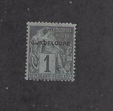 """GUADELOUPE - 14 - 17  - MH - 1891 - """"GUADELOUPE"""" O/P ON FRENCH COLONIES STAMPS"""