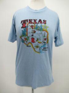 P5461 VTG Texas & Cities Lone Star Texas Symbols Souvenir T-Shirt