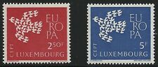 Luxembourg Scott #382-83, Singles 1961 Complete Set FVF MNH