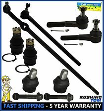 87-96 Ford F150 2WD 8 Pc Set Upper & Lower Ball Joint Inner & Outer Tie Rod End