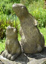 Madre y el bebé Luna Liebre Mirando Jardín Adornos Celtic Frost A Prueba De Piedra