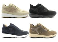 Scarpe donna Geox sneaker casual sportive comode traspiranti leggere scamosciate
