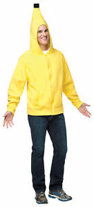 Hoodie Banana Sweatshirt Adult Costume Halloween Fancy Dress Up Rasta Imposta