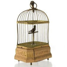 Rare German Antique Singing Bird Cage Automaton Music Box Karl Griesbaum Ca 1880