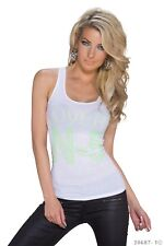 Tank-Top mit Lovers N-5 Aufdruck Damen S M 34 36