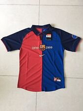 1999-2000 Barcelona 100 Year Anniversary Home Retro Vintage Soccer Jersey L Size