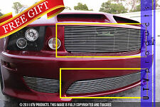 GTG 2005 - 2009 Saleen Ford Mustang 2PC Polished Combo Billet Grille Grill Kit