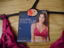 40B  MARKS & SPENCERS MAGENTA  FULL CUP NON PADDED  NON WIRED BRA  NEW