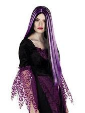 Perücke Iona Langhaar zweifarbig schwarz lila Fasching