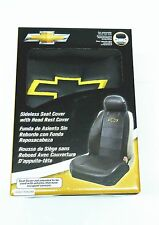 Chevy Auto Seat Cover Elite Black Synthetic Leather Sideless  Airbag ready
