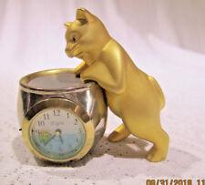 "Elgin Novelity Clock ""Cat on the Fish Bowl"""