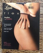 Levante Flex 15 Deniers Qualité Supérieure Sheer Collants/Collants, Noir, Bnwt, S