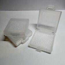 26 Piece Lot Plastic Translucent White Case Storage Box Multipurpose Organizer