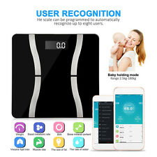 Bluetooth Smart Digital Bathroom Scale Body Weight Glass Electronic Fit Tackle
