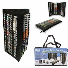 Foldable Bead Tube Tower Organiser With Travel Pouch by Beadsmith